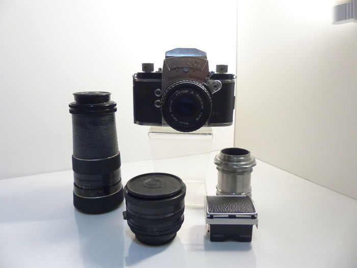 camera ihagee exa, 2 viewfinders and 3 lenses
