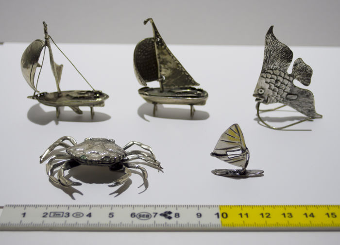 Lot of 5 silver miniatures - Italy, 1960s/70s