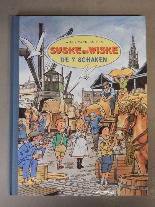 Suske en Wiske - De 7 Schaken - Author's copy - Deluxe hc with cloth spine in large size - (1995)
