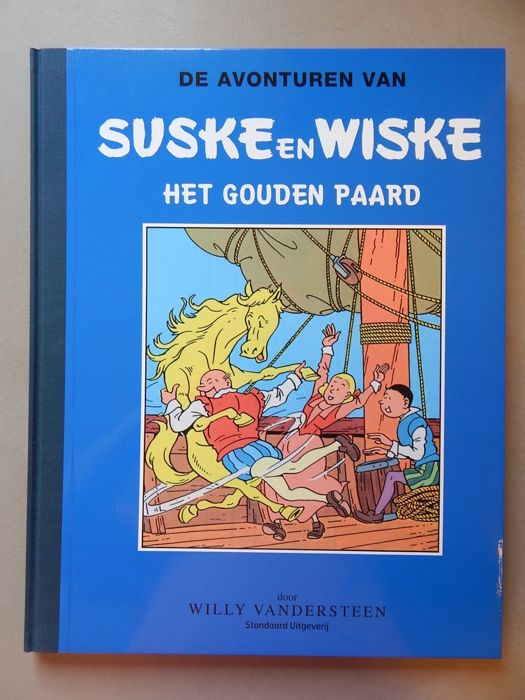 Suske en Wiske - Het Gouden Paard - Author's copy - Blue series - Luxury hc with linen spine in a large format - (2016)