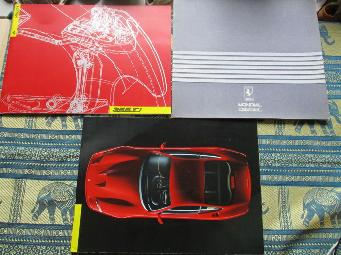 Brochures / Catalogi - (Ferrari 550/355/Mondial - 1982-1997 (3 items)