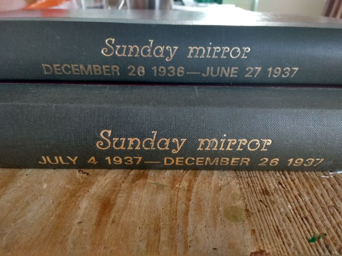 Sunday Mirror Comic Section 1936 and 1937 bound