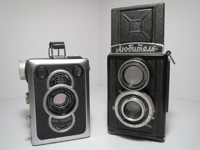 "Zeiss Ikon ""Box-Tengor-2"" Type 56/2 Germany+""Lubitel"" USSR"