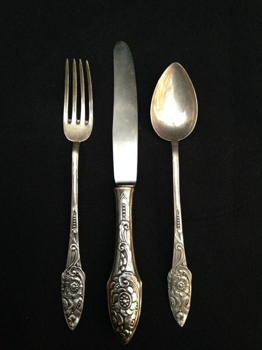 Silver - Javali 2º Titulo  Cutlery ( 3 Items )