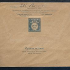 Sweden - early military field post 1935 with reply stamp Facit M2.