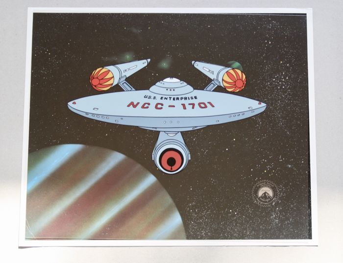 STAR  TREK + Limited  Edition Cel + Copy Background + Certificate of Authenticity +