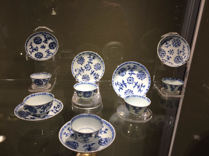 6 cups and saucers - China - Qianlong 1735-1795