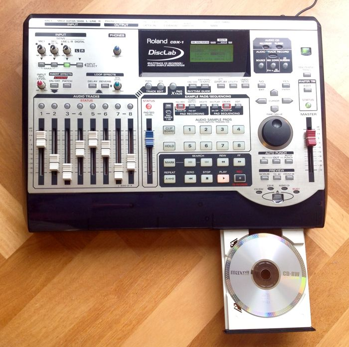 roland cdx 1 disclab multitrack cd recorder audio sample workstation catawiki. Black Bedroom Furniture Sets. Home Design Ideas
