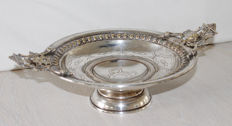Antique silver-plated fruit bowl - 1870