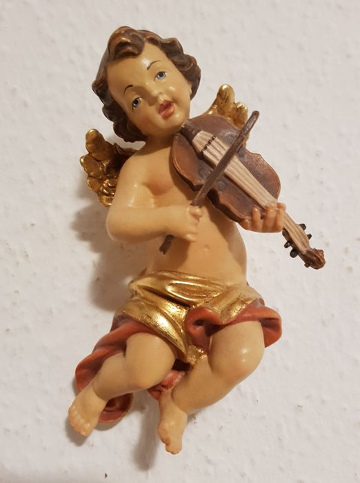 Tyrol - wooden angel/putto figure approx. 13.5 cm