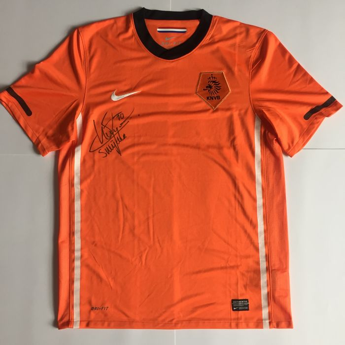 Wesley Sneijder - hand signed shirt Dutch national football team - World Cup 2010