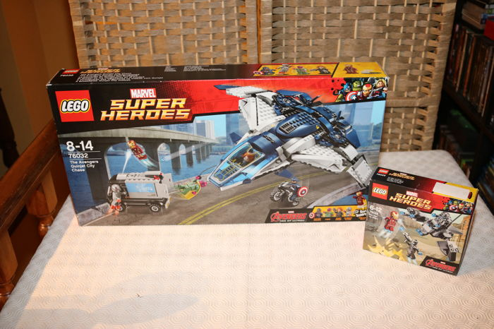 Super Heroes - 76032 + 76029 - The Avengers Quinjet City Chase + Iron Man Vs Ultron