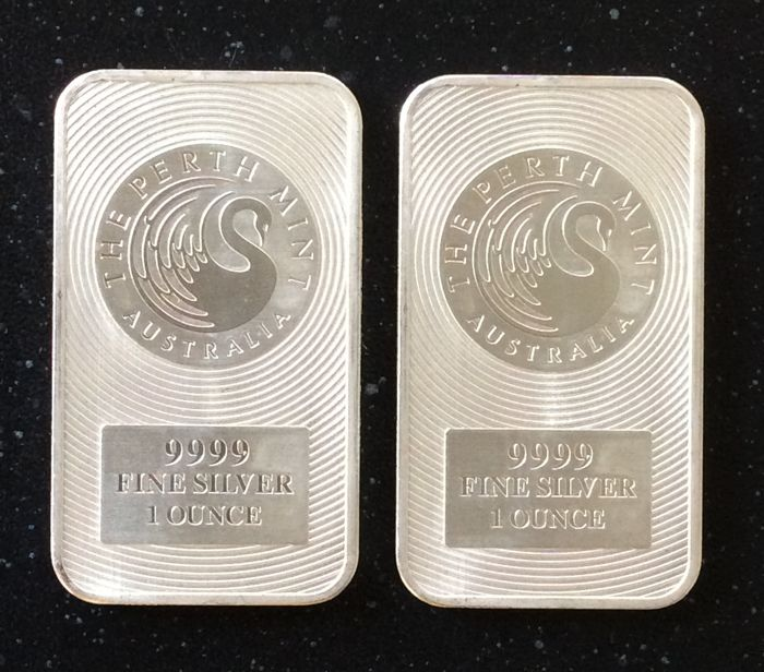 Perth Mint - 2 x 1 oz Swan - 999.9/1000 - Minted bar