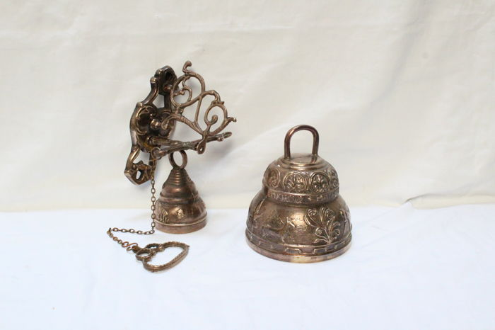 Two monastery bells in Bronze  - 1st half 20th century