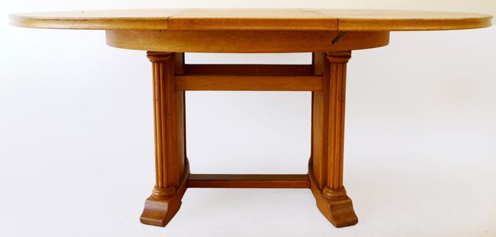 Art Deco Oval Oak Dining Room Table