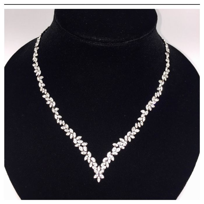 Swarovski - Diapason - V - Crystal Necklace