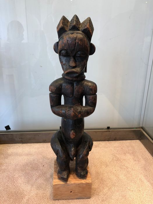 Top of a reliquary in wood - FANG - Gabon