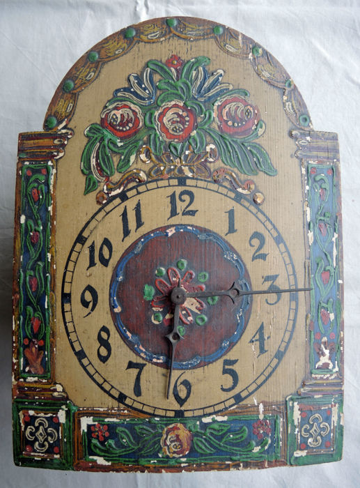 Original wooden wall clock - 18th century
