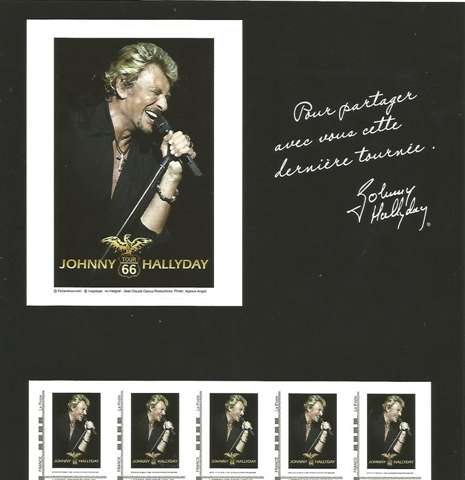 France 2009 - Collector Yvert no. 29 Johnny Halliday - Tour '66'