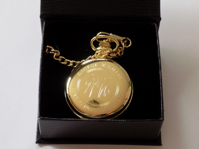 George Michael 24k gold plated pocket watch.
