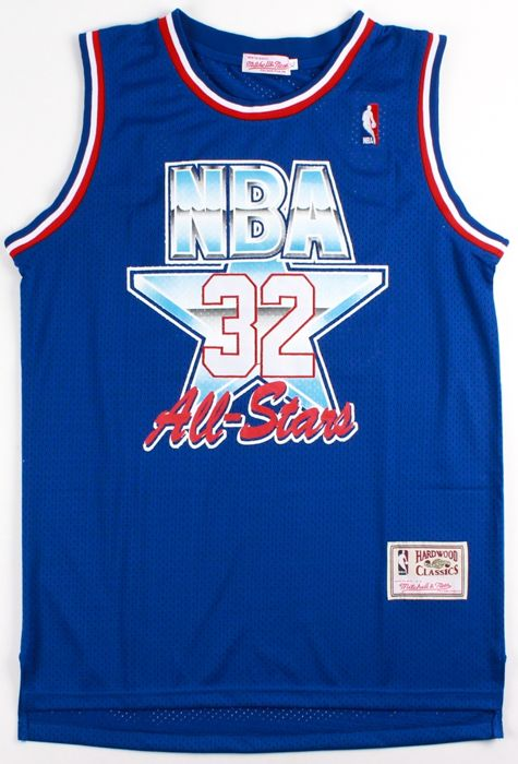 quite nice 3d3a5 27130 Magic Johnson signed All Star jersey (Mitchell & Ness ...