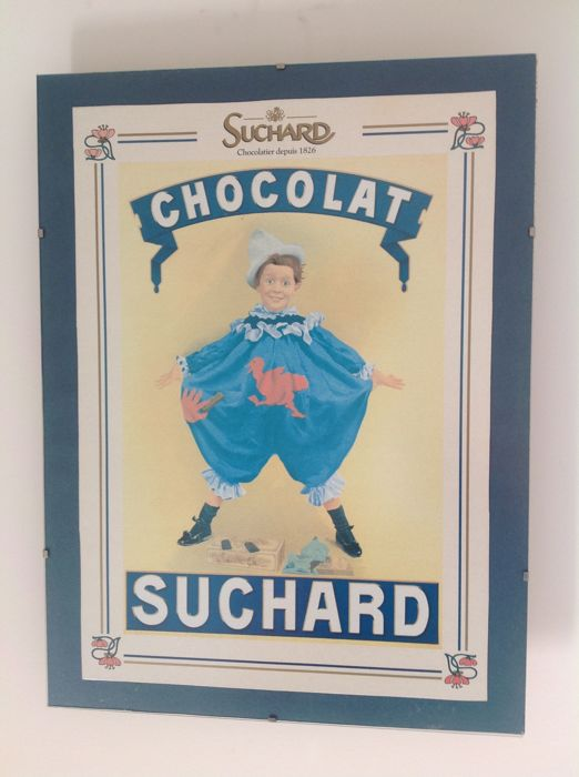 "Ancienne affiche ""Chocolats Suchard"""