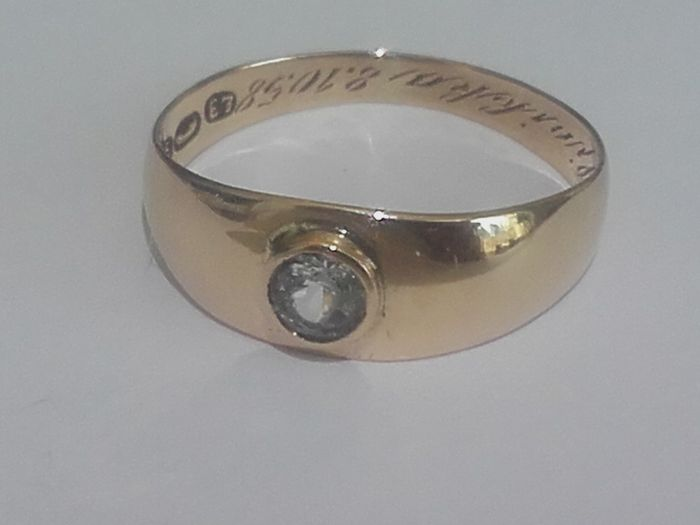 14k gold ring with spinell, size 17.60mm/ 1.55g***no reserve