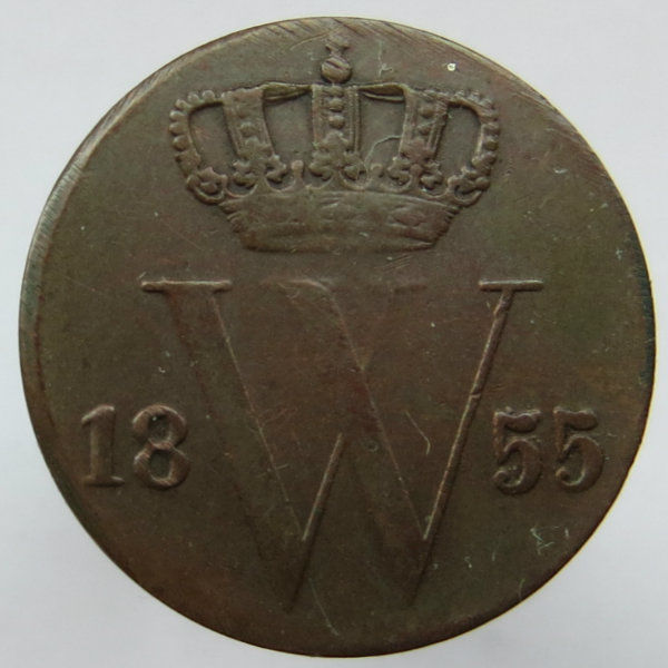 The Netherlands - ½ cent 1855 Willem III - copper