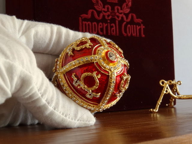 "Imperial Faberge Egg - 24k Gold finish - Ovo Fabergé Imperial - Luxury Edition ""Imperial Court"" - Esmalte"