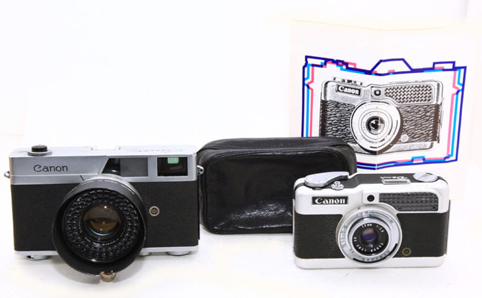 Canonet rangefinder 1961 and Canon Demi