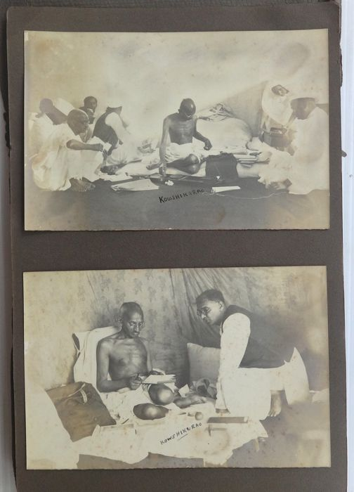 Kowshik e rao , Choksi Brothers-Bombay and  Nuru, - A Historic photo album, with 28 mounted photos of 'Gandhi in London', c.1930