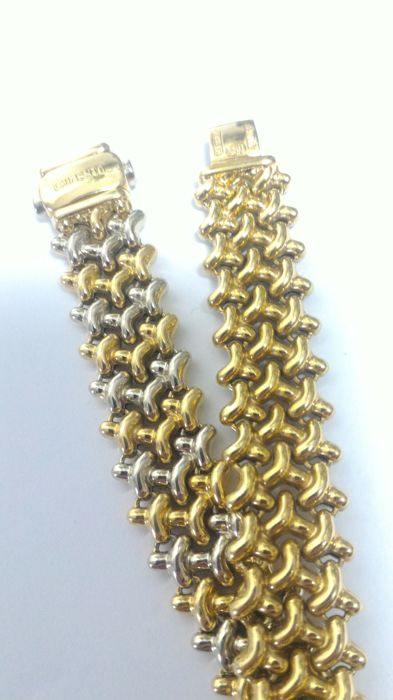 Chimento - Bracelet in two tones of 18 kt gold
