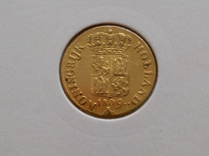 Kingdom of Holland - Ducat 1809 Lodewijk Napoleon - type III - gold