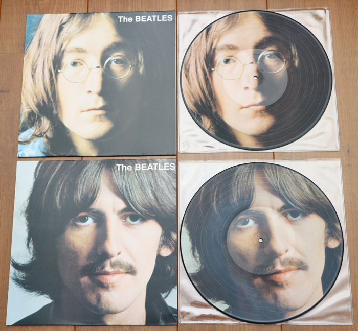 The Beatles- Great lot of 2 limited edition picture disc lp's: The Beatles Part One & Part Two (together they are the complete White Album). In EXCELLENT condition!