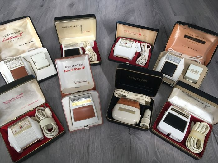 Eight vintage Remington Electric Shavers - Catawiki