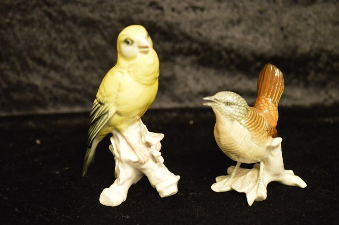 2 Karl Ens Bird Figurines