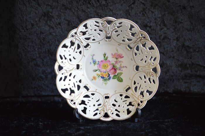 Reticulated Meissen Dish, 1st Quality