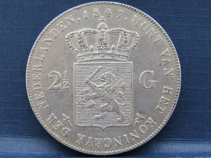 The Netherlands - 2½ guilder coin 1847 Willem II - silver