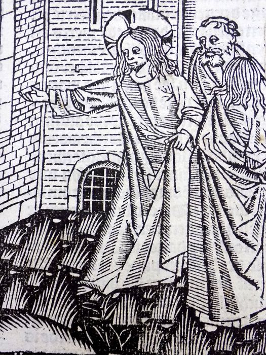 Master of Delft - Vita Christi. In Dutch - Incunabula Woodcut with initial - 1488