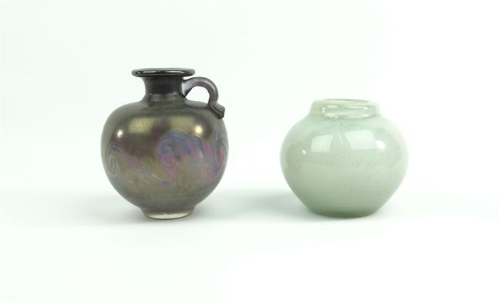 Henry Dean Two Glass Vases Catawiki