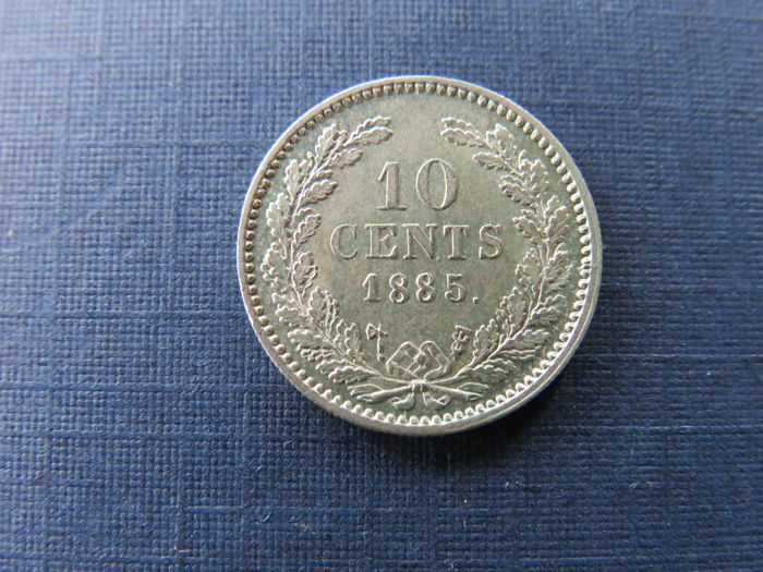 The Netherlands - 10 Cents 1885 Willem III - silver