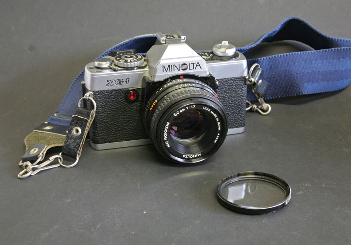 Minolta XG-1 camera with Rokkor 1.7 / 50mm lens