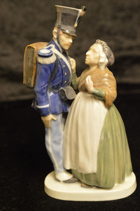 Royal Copenhagen Figure, Soldier and Witch
