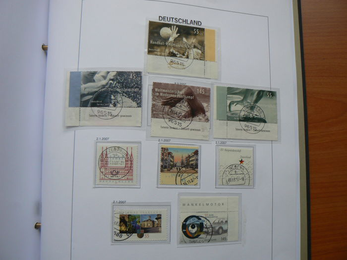 Duitsland, Bondsrepubliek 1990/2007 - Collection in DAVO album -