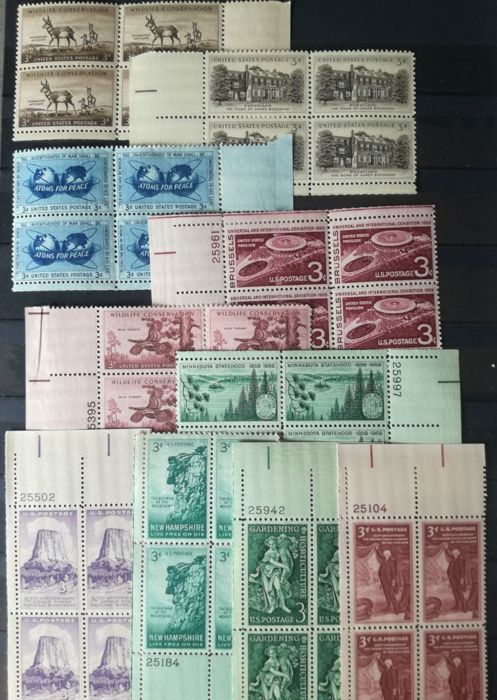 United States 1954/1958 – collection of blocks