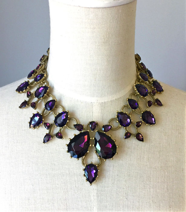 Oscar De La Renta - Purple Crystal  Ketting