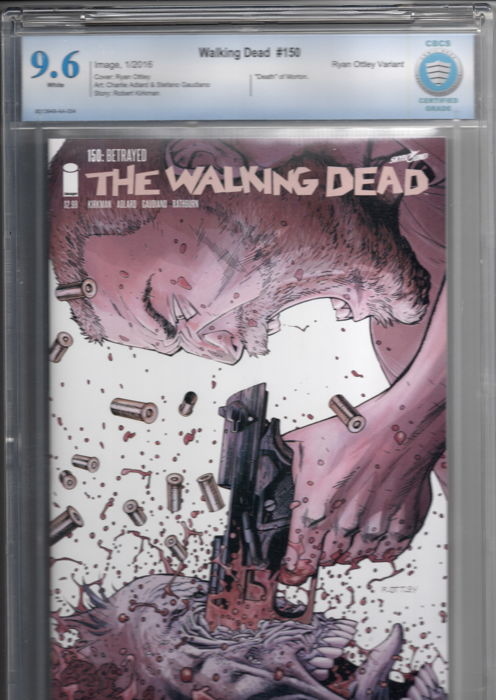 The Walking Dead # 150 -Ryan Ottley variant cover - CBCS 9.6
