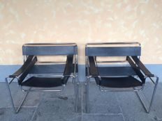 Marcel Breuer for Gavina - Wassily B3 Chair - MOD. ORIGINAL - 2 chairs (pair)