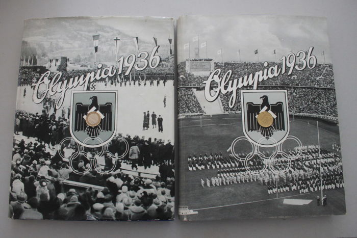 Collector's picture albums - Olympia 1936, volumes 1 & 2, German Reich, with dust jacket