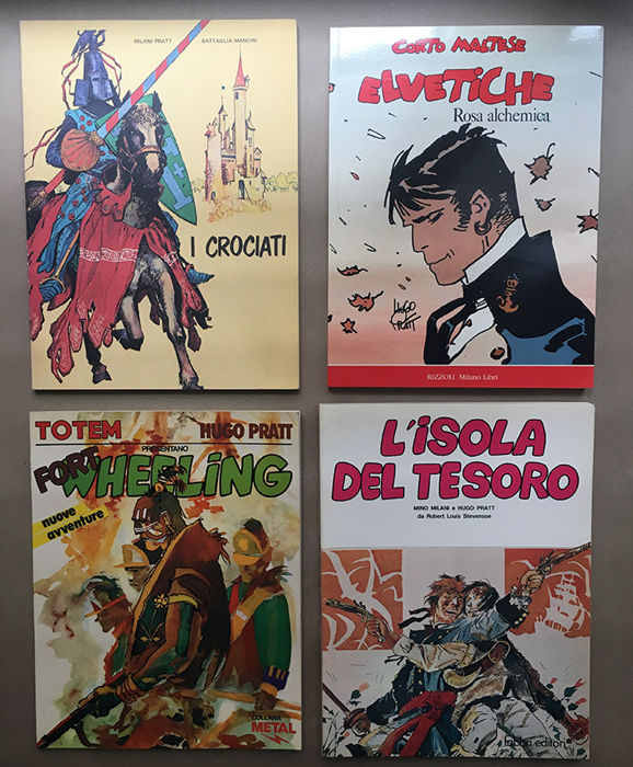 4x vol. Elvetiche, Isola Tesoro, Wheeling, Crociati + 3x vol. in francese - Softcover - Eerste Druk - (1978/1989)